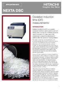 Czas Indukcji Utleniania OIT z wykorzystaniem skaningowego kalorymetru różnicowego DSC HITACHI HAAS